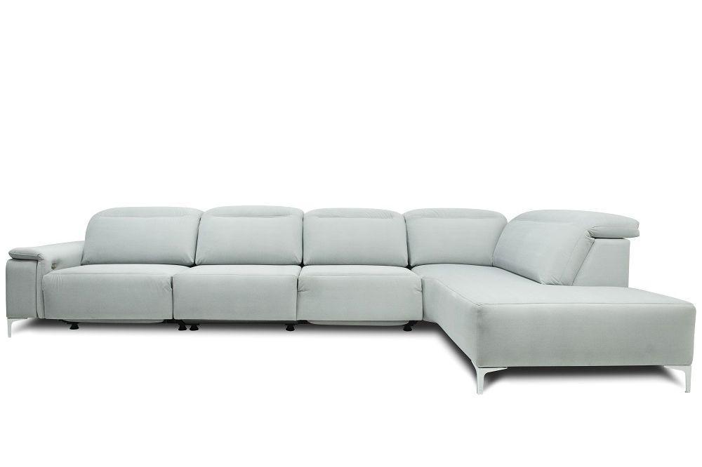 Угловой модульный  белый диван Leandro