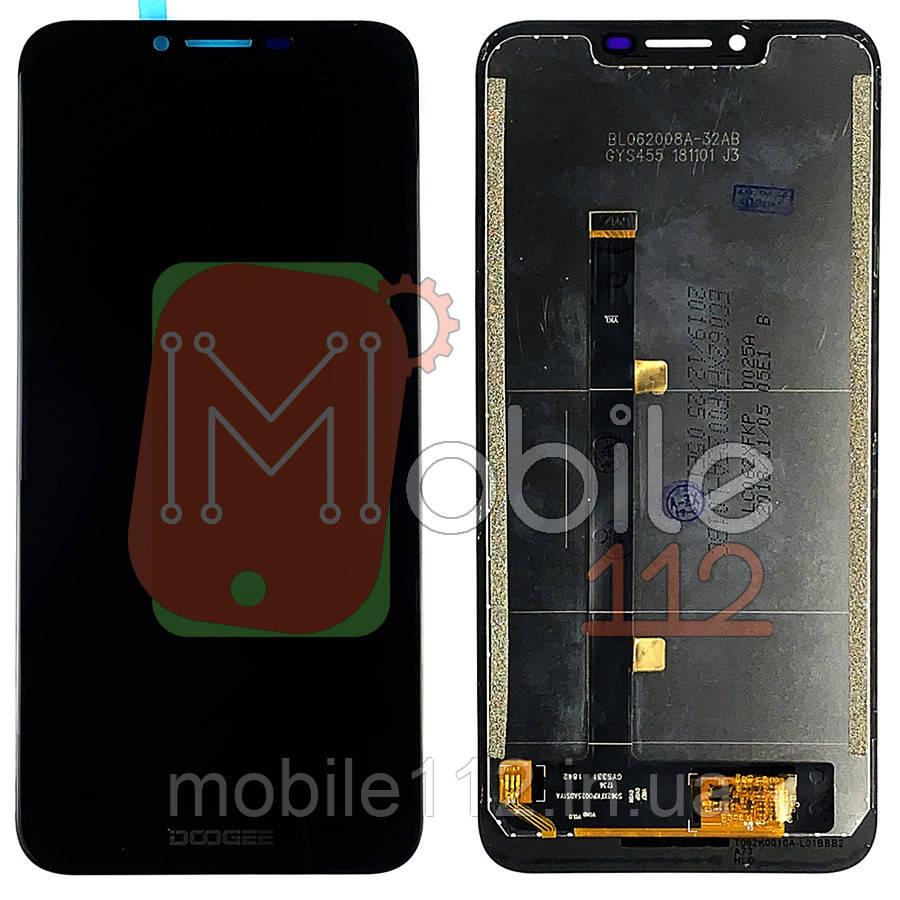 Экран (дисплей) Doogee BL5500 Lite + тачскрин черный оригинал Китай