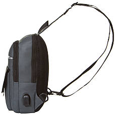 Рюкзак SKY-BOW з одного лямкою 19х32х9 тканина нейлон кс1039сер, фото 3