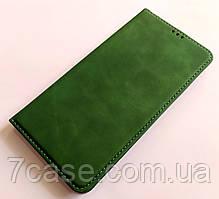 Чехол книжка Leather Book для Samsung Galaxy A30s A307F Зеленый
