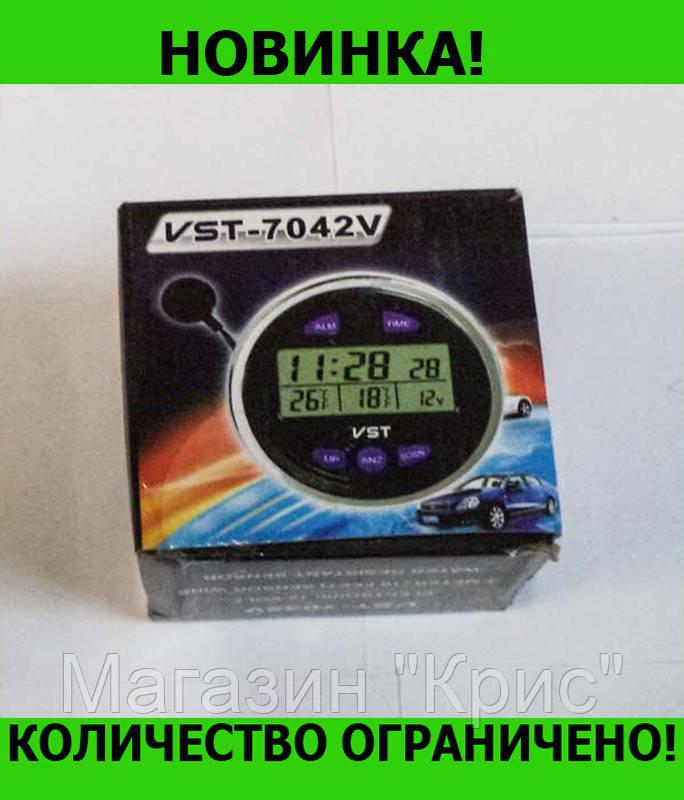 Часы автомобильные VST-7042V! Распродажа