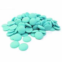 Диски шоколадные  голубые, глазурь,  250 грамм