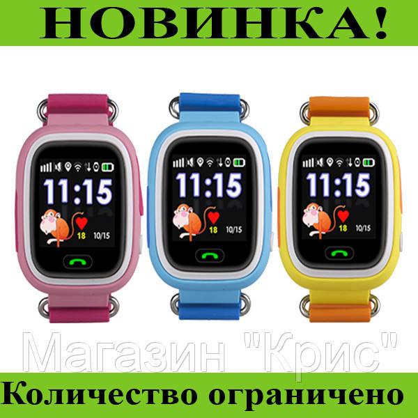 Детские часы Smart Baby Watch Q90S (черные, желтые, голубые, розовые)! Распродажа