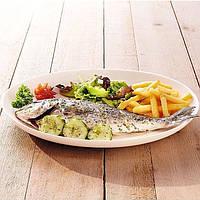 Біле овальне блюдо для заливного Luminarc Diwali 330 мм (D7481)