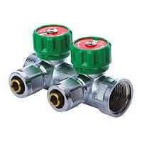 KOER KR.1122-2 1 x2 WAYS Коллектор вентильный с фитингом (20 шт/ящ)