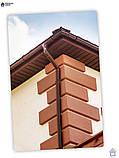 Угол желоба наружный коричневый 90° 130/100 Profil, фото 5
