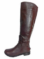 Сапоги М-112 коричневые кожаные сапоги