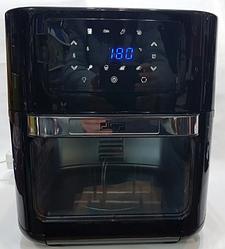Мини духовка фритюрница электрическая Air Fryer DSP KB-2030 12 л 1700W Black