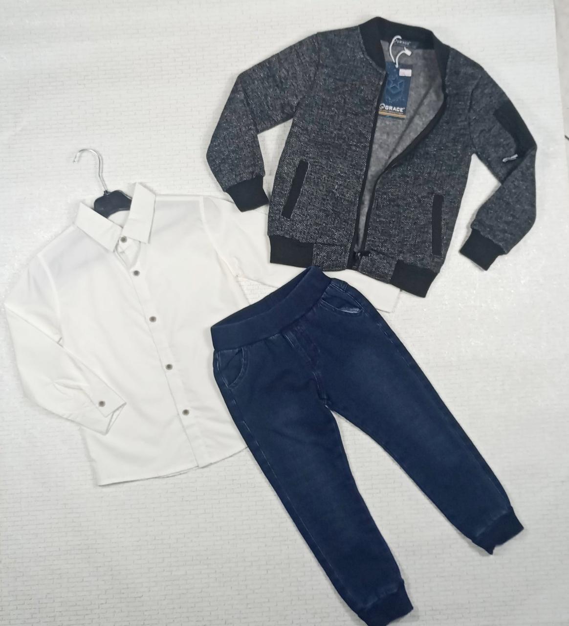 Костюм-трійка. кофта , сорочка,штани на хлопчика. На ріст 116 см . Угорщина