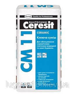 Клей для керамической плитки СМ 11, 25 кг