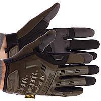 Перчатки тактические с закрытыми пальцами MECHANIX (р-р M-XL, цвета в ассортименте)