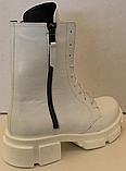 Ботинки зимние белые кожаные женские от производителя модель ЛИ332-1, фото 4