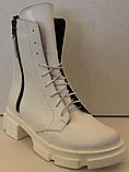Ботинки зимние белые кожаные женские от производителя модель ЛИ332-1, фото 2