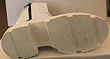 Ботинки зимние белые кожаные женские от производителя модель ЛИ332-1, фото 6