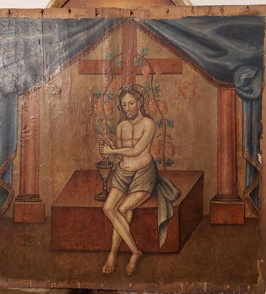 Икона Иисус виноградная лоза 19 век