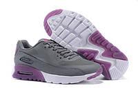 Женские повседневные кроссовки  Nike Air Max 90 HyperLite Grey Purple Серо-фиолетовые