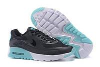 Женские повседневные кроссовки  Nike Air Max 90 HyperLite Sea Blue Черно-бирюзовые