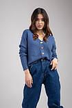 Трикотажная женская кофта-кардиган с цветными пуговицами микс цветов в размерах S/M и L/XL, фото 7