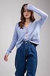 Трикотажная женская кофта-кардиган с цветными пуговицами микс цветов в размерах S/M и L/XL, фото 8