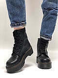 🔥 Ботинки женские Dr. Martens Molly демисезонные кожаные термо теплые черные, фото 3