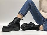 🔥 Ботинки женские Dr. Martens Molly демисезонные кожаные термо теплые черные, фото 5