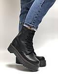 🔥 Ботинки женские Dr. Martens Molly демисезонные кожаные термо теплые черные, фото 6