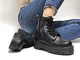 🔥 Ботинки женские Dr. Martens Molly демисезонные кожаные термо теплые черные, фото 7