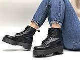 🔥 Ботинки женские Dr. Martens Molly демисезонные кожаные термо теплые черные, фото 8