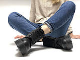 🔥 Ботинки женские Dr. Martens Molly демисезонные кожаные термо теплые черные, фото 9