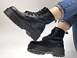 🔥 Ботинки женские Dr. Martens Molly демисезонные кожаные термо теплые черные, фото 10