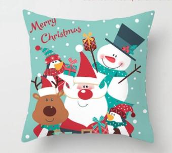 Новорічна наволочка для подушки з принтом Новий Рік
