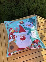 Новорічна наволочка для подушки з принтом Новий Рік, фото 3