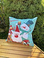 Новорічна наволочка для подушки з принтом Новий Рік, фото 4
