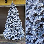 Элитная заснеженная 2.3м литая елка искусственная ель со снегом