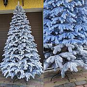 Элитная заснеженная 2.1м литая елка искусственная ель со снегом