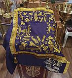 Скатерть церковная желтая с вышивкой 105*70 (есть разные цвета), фото 2