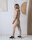 Теплый женский спортивный костюм с капюшоном 11-343-1, фото 7