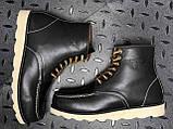 🔥 Ботинки мужские Red Wing Stitch зимние кожаные на меху теплые черные, фото 9