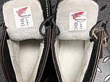 🔥 Ботинки мужские Red Wing Stitch зимние кожаные на меху теплые черные, фото 10