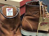 🔥 Ботинки мужские Red Wing Stitch демисезонные кожаные термо теплые коричневые, фото 8