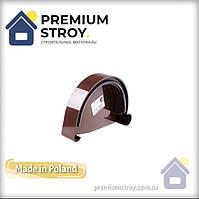 Заглушка ринви ліва коричнева Profil 130/100