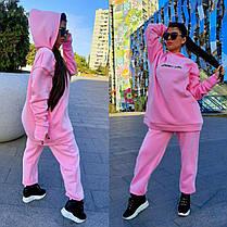 Костюм спортивный MINIMO GIRL свободная кофта и штаны на флисе, фото 2