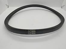 Ремінь 17*800 зубчастий (L-420mm*2) - 168F