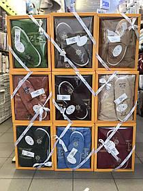 Набор Для Сауны и Бани Подарочный Мужской В Коробке Хлопковый На Липучке Турция Gulcan