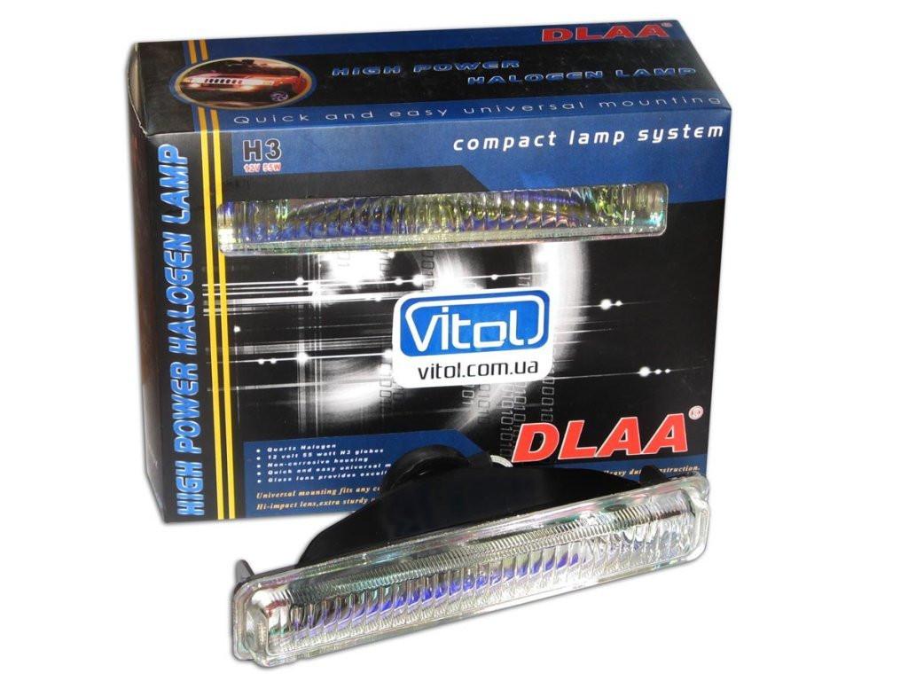 Фары DLAA 8070 DW/H3-12V-55W/177*35mm гладкие