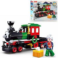 Конструктор из серии Город - Поезд паровоз новый год, 156 деталей, M38-B0889
