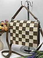 Женский сумка на плечо 079 бежевый женские клатчи, женские сумки купить оптом в Украине, фото 1