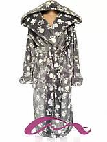 Тёплый молодёжный махровый халат с капюшоном  с 42 по 60 размер, фото 3