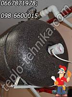 Горизонтальный Бойлер косвенного нагрева с качественной теплоизоляцией 140 л (Польша)