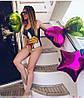 Женский сдельный мультяшный купальник с чашками, фото 3